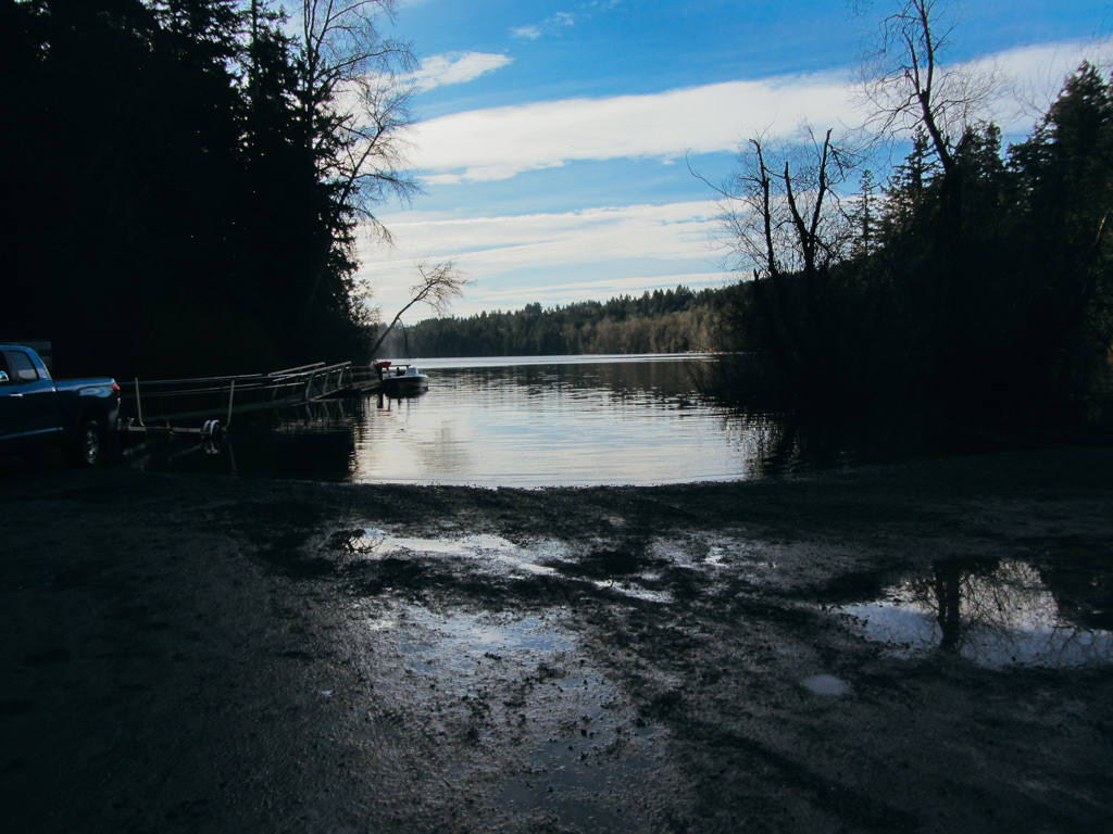 Elk Lake Boat Ramp: Click to enlarge