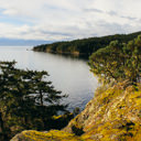 A view from a rocky bluff along the Coast Trail in East Sooke Park.