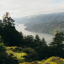 Looking south over the Saanich Inlet from Jocelyn Hill in Gowlland Tod Provincial Park.