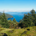 The view of the Saanich Inlet from the Squally Reach Viewpoint in Gowlland Tod Provincial Park.