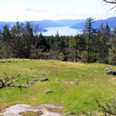A viewpoint looking southwest towards Saanich Inlet in John Dean Provincial Park