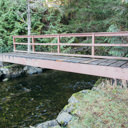 The bridge over Pease Creek near the beach area of McKenzie Bight.