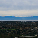 The view from Mount Tolmie looking across Victoria and out towards Haro Strait.