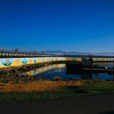 The colourful murals on the side of the Ogden Point Breakwater in Victoria.
