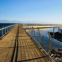 The walkway on the Ogden Point Breakwater in Victoria, BC.