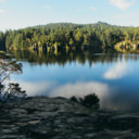 An early morning photo of Lower Thetis Lake.