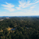 The view from the top of Scafe Hill in Thetis Lake Regional Park.