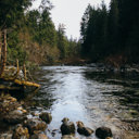 The rocky Sooke River within the Sooke Potholes Regional Park.