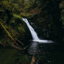 Upper Goldstream Falls is a scenic waterfall near the park campsite.