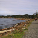 The trail along Whiffin Spit provides many scenic views of the area