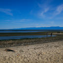The beach area at the mouth of Witty's Lagoon near Victoria, BC.